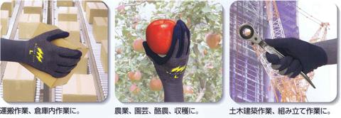 特許手法の驚異のグリップ力で大切な商品を落とさない手袋