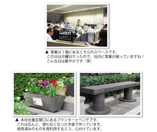 営業部、リサイクル製品
