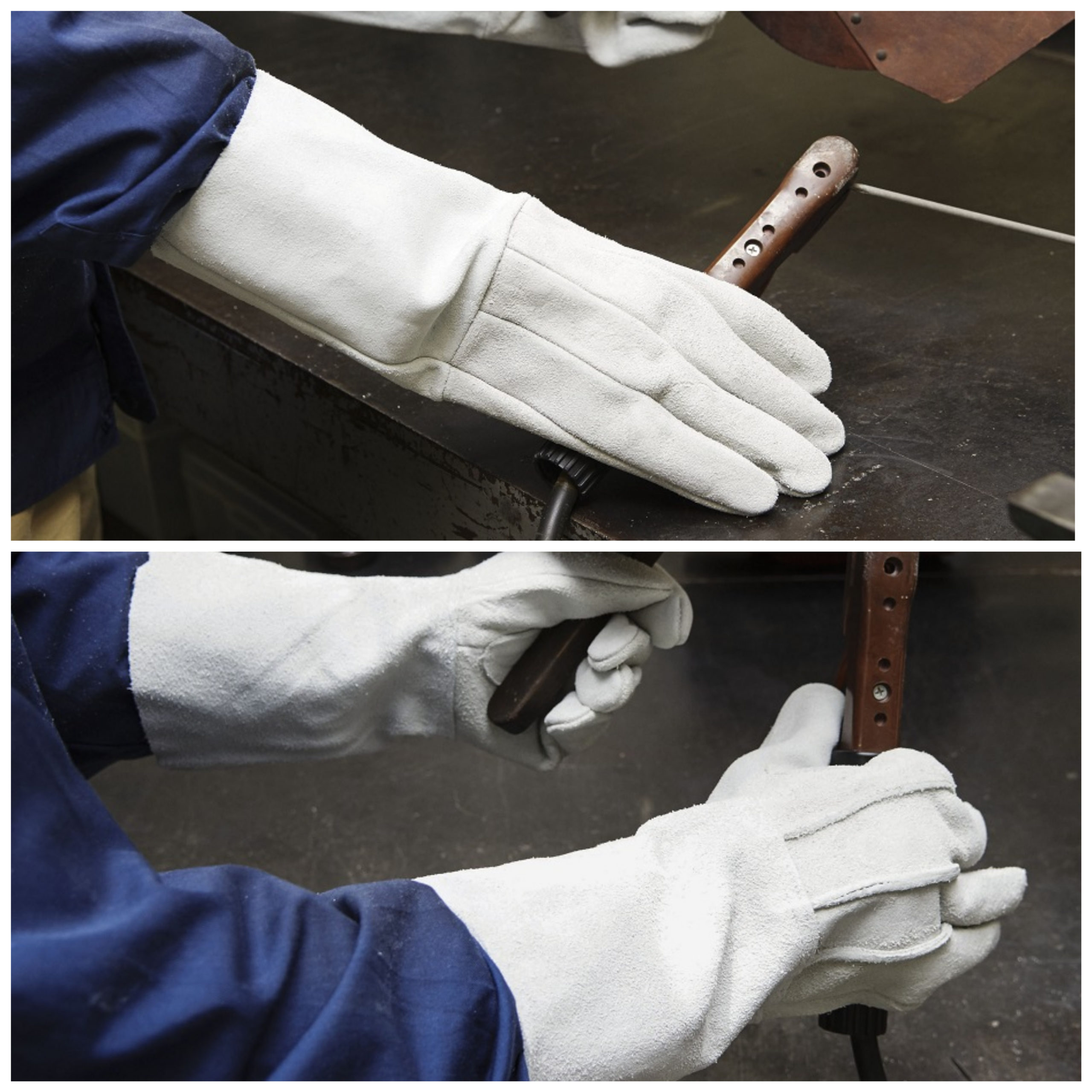 溶接用 床革5本指 W-335(内縫い、外縫い)