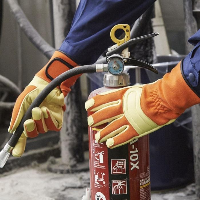 消防用セラミックレザー手袋(指先二重構造)